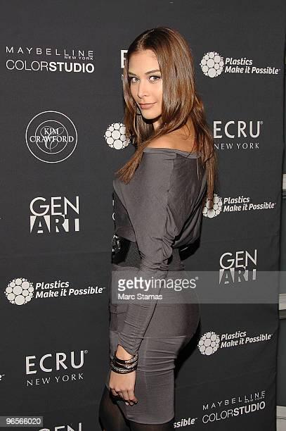 Miss Universe 2008 Dayana Mendoza attends Gen Art's The New Garde fashion presentation at DriveIn Studio on February 10 2010 in New York City