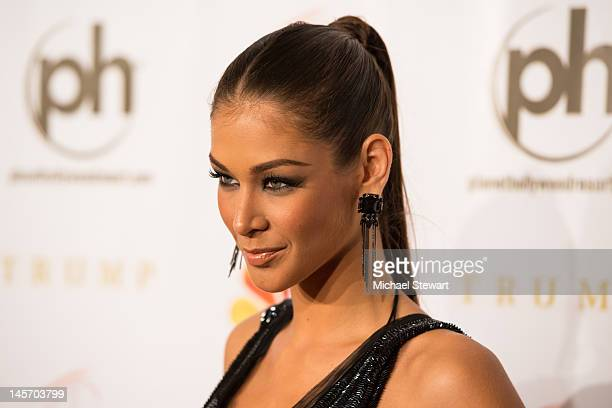 Miss Universe 2008 Dayana Mendoza attends the 2012 Miss USA pageant red carpet at Planet Hollywood Casino Resort on June 3 2012 in Las Vegas Nevada
