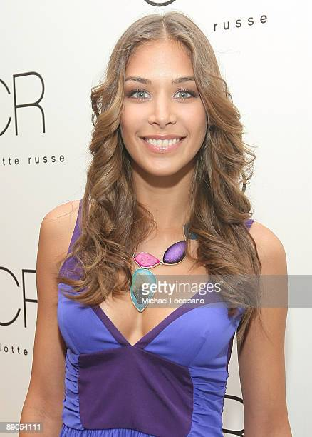 Miss Universe 2008 Dayana Mendoza attends the Charlotte Russe Fall 2009 launch event at Openhouse Gallery on July 15 2009 in New York City