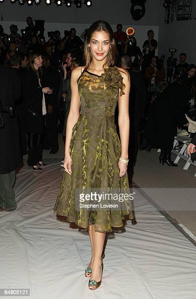 Miss Universe 2008 Dayana Mendoza attends the Mara Hoffman/Nicholas K/Sergio Davila Fall 2009 fashion show during MercedesBenz Fashion Week in the...
