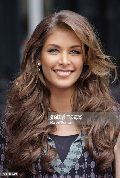 Miss Universe 2008 Dayana Mendoza is seen on the Streets of Manhattan on June 22 2009 in New York City