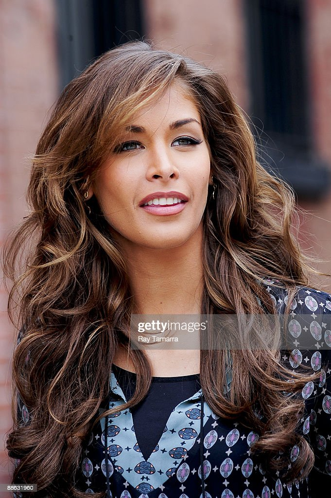 Miss Universe 2008 Dayana Mendoza leaves a commercial film shoot set in the West Village on June 22, 2009 in New York City.