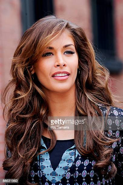 Miss Universe 2008 Dayana Mendoza leaves a commercial film shoot set in the West Village on June 22 2009 in New York City