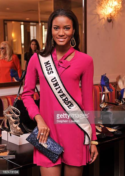 Miss Universe 2011 Leila Lopes attends the UN Women For Peace And Same Sky Ethical Shopping Event at Saks Fifth Avenue on September 21 2012 in New...