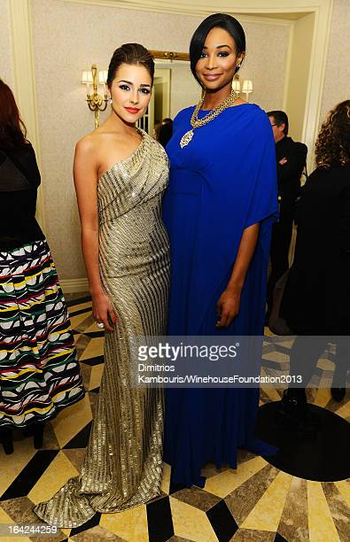 Miss Universe 2012 Olivia Culpo and Miss USA Nana Meriwether attend the 2013 Amy Winehouse Foundation Inspiration Awards and Gala at The...