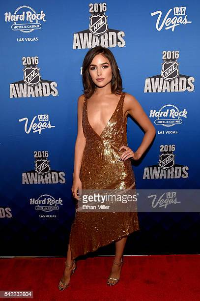 Miss Universe 2012 Olivia Culpo attends the 2016 NHL Awards at the Hard Rock Hotel Casino on June 22 2016 in Las Vegas Nevada