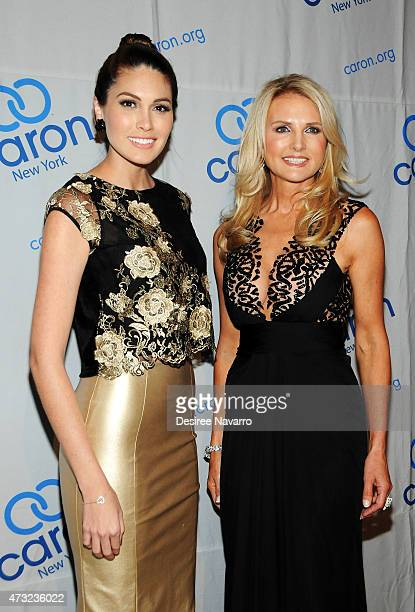 Miss Universe 2013 Gabriela Isler and Petra Levin attend 2015 Caron Treatment Centers NYC Gala at Cipriani 42nd Street on May 13 2015 in New York City
