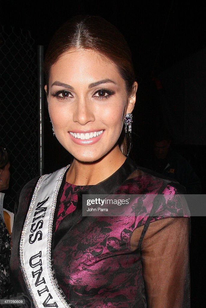 Miss Universe 2013 Gabriela Isler attends the Carolina Herrera Fashion Show with GREY GOOSE Vodka at the Cadillac Championship at Trump National Doral on March 7, 2014 in Doral, Florida.