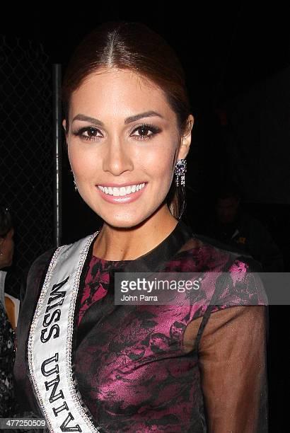 Miss Universe 2013 Gabriela Isler attends the Carolina Herrera Fashion Show with GREY GOOSE Vodka at the Cadillac Championship at Trump National...