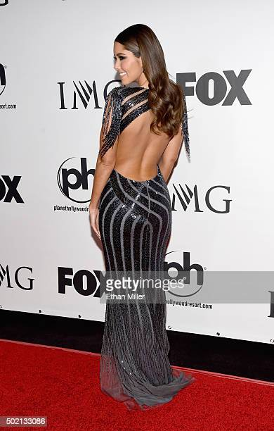 Miss Universe 2014 Paulina Vega attends the 2015 Miss Universe Pageant at Planet Hollywood Resort Casino on December 20 2015 in Las Vegas Nevada
