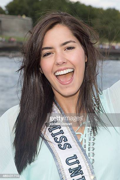 Miss Universe 2014 Paulina Vega attends the Ride of Fame City Sightseeing Cruise at Pier 78 on August 27, 2015 in New York City.