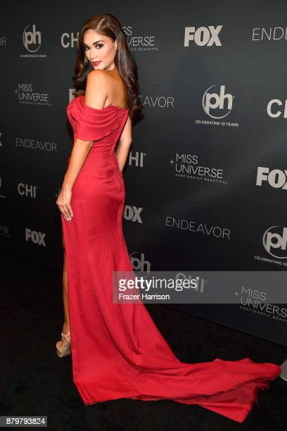Miss Universe 2015 and pageant judge Pia Alonzo Wurtzbach attends the 2017 Miss Universe Pageant at Planet Hollywood Resort Casino on November 26...