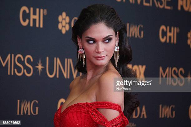 Miss Universe 2015 Pia Wurtzbach attends a red carpet event a day before the Miss Universe 2017 pageant in Pasay City south of Manila Philippines on...