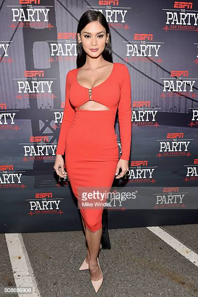 Miss Universe 2015 Pia Wurtzbach attends ESPN The Party on February 5, 2016 in San Francisco, California.