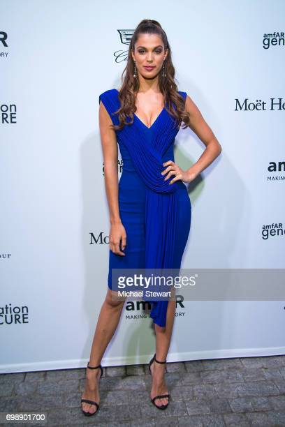 Miss Universe 2016 Iris Mittenaere attends amfAR generationCURE Solstice 2017 at Mr. Purple on June 20, 2017 in New York City.