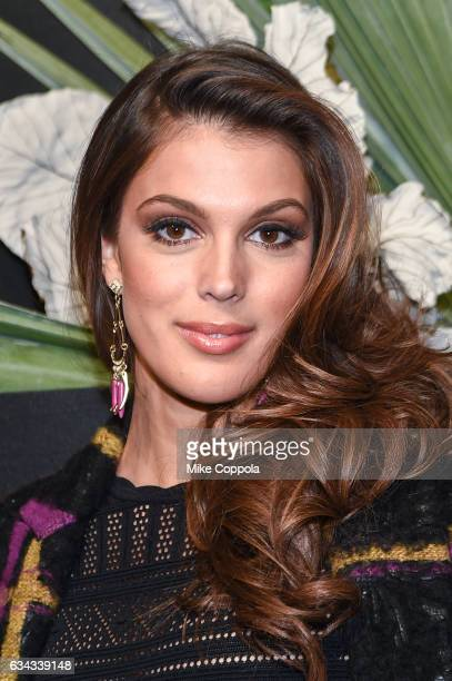 Miss Universe 2016 Iris Mittenaere attends ELLE E and IMG New York Fashion Week February 2017 KickOff Event on February 8 2017 in New York City