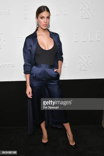 Miss Universe 2016 Iris Mittenaere attends the NYFW Kickoff Party A Celebration Of Personal Style hosted by E ELLE IMG and sponsored by TRESEMME on...