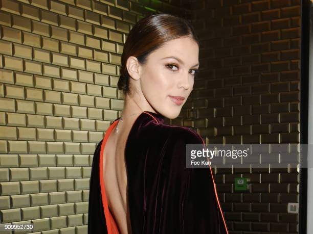 Miss Universe 2016 /Miss France 2016 Iris Mittenaere attends the JeanPaul Gaultier Haute Couture Spring Summer 2018 show as part of Paris Fashion...