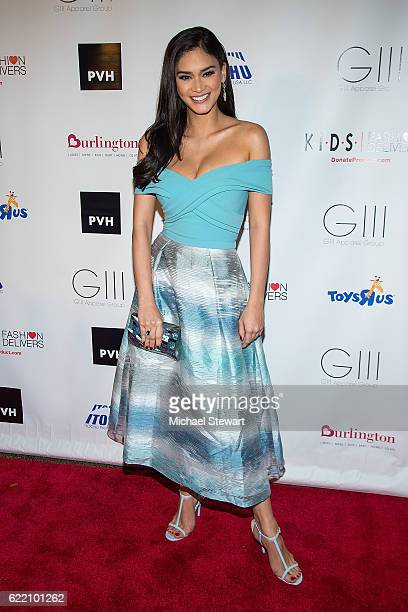 Miss Universe 2016 Pia Wurtzbach attends the KIDS Fashion Delivers annual gala at American Museum of Natural History on November 9 2016 in New York...