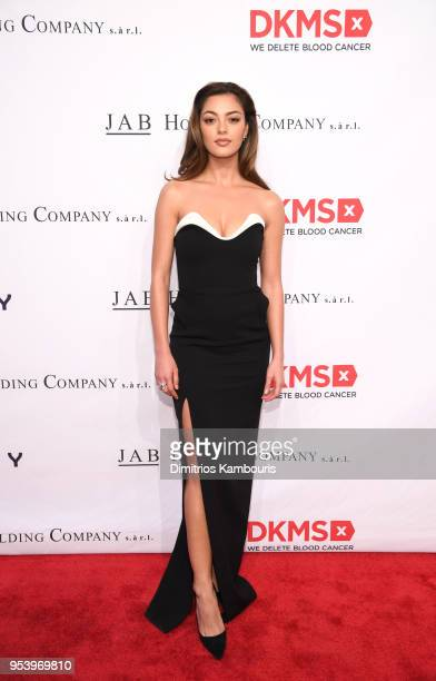 Miss Universe 2017 DemiLeigh NelPeters attends The DKMS Love Gala 2018 at Cipriani Wall Street on May 2 2018 in New York City