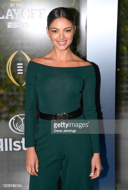 Miss Universe 2017 DemiLeigh NelPeters attends the Party At The Playoff at The GlassHouse on January 5 2019 in San Jose California