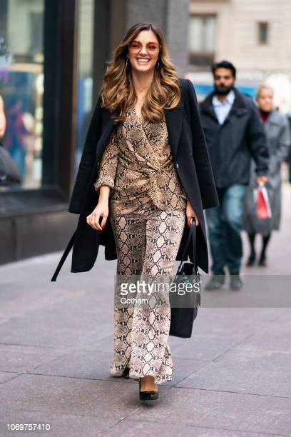 Miss Universe 2017 DemiLeigh NelPeters is seen in Midtown on November 19 2018 in New York City