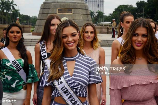Miss Universe 2017 DemiLeigh NelPeters leads the march