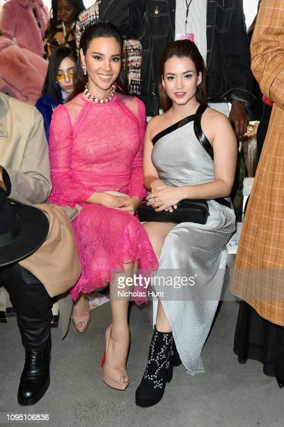 Miss Universe 2018 Catriona Gray and actor Julia Creus attend the Tadashi Shoji FW'19 Fashion Show front row during New York Fashion Week The Shows...