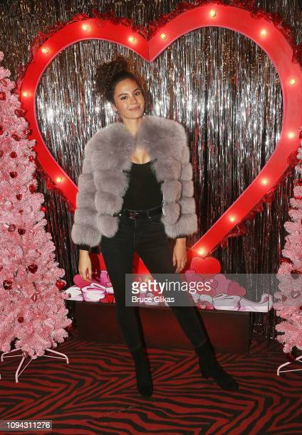 Miss Universe 2018 Catriona Gray of the Philippines visits The Valentine's Day Wonderland at Planet Hollywood Times Square on February 5 2019 in New...