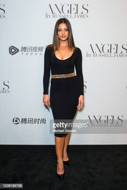 Miss Universe 2018 Demi-Leigh Nel-Peters attends the Russell James 'Angels' book launch & exhibit at Stephan Weiss Studio on September 6, 2018 in New...