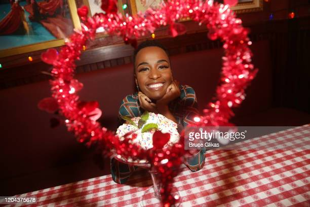 Miss Universe 2019 Zozibini Tunzi poses with The Colossal Brownie Sundae at Buca di Beppo Times Square on February 5 2020 in New York City
