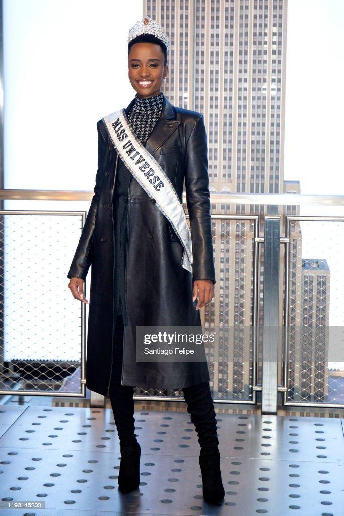 Empire State Building Hosts Miss Universe 2019 Zozibini Tunzi : News Photo