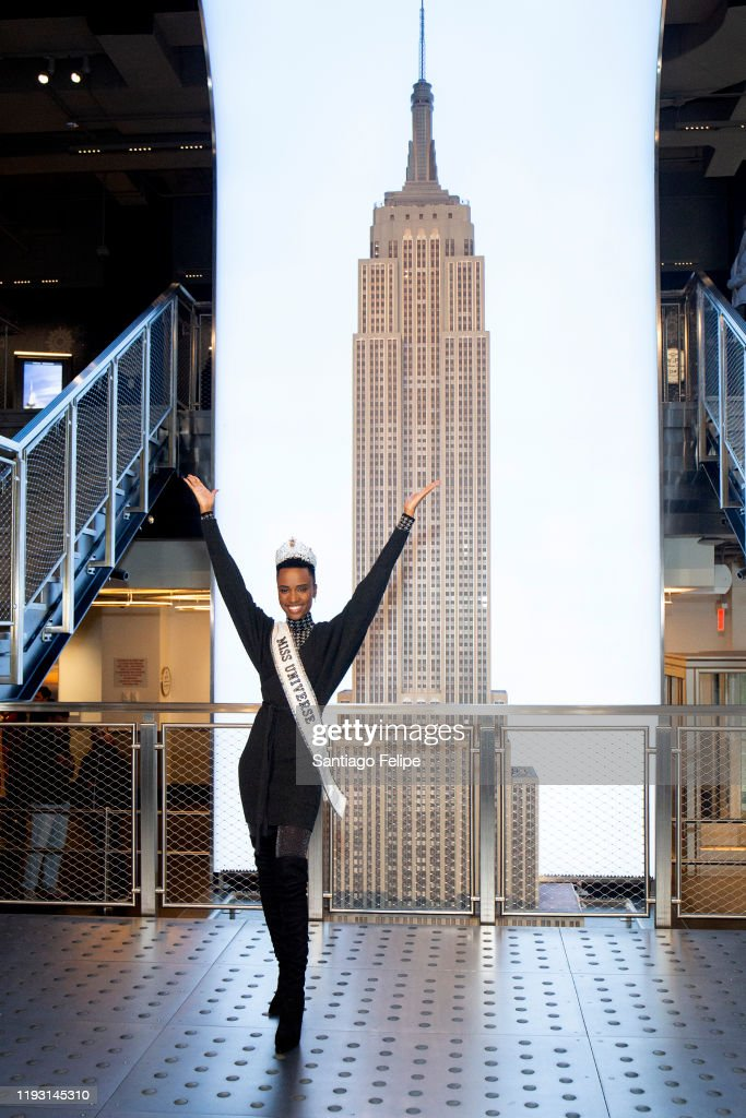 Empire State Building Hosts Miss Universe 2019 Zozibini Tunzi : News Photo