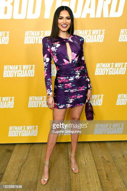 """Miss Universe 2020 Andrea Meza attends the """"Hitman's Wife's Bodyguard"""" special screening at Crosby Street Hotel on June 14, 2021 in New York City."""