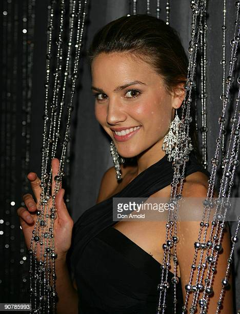 Miss Universe Australia Rachael Finch arrives for the official launch of Russian Standard Vodka at the Sydney Opera House on September 15 2009 in...