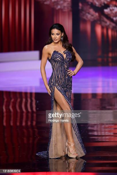 Miss Universe Brazil Finalist Julia Gama appears onstage at the 69th Miss Universe competition at Seminole Hard Rock Hotel & Casino on May 16, 2021...