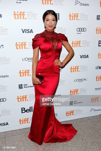 Miss Universe Canada Sahar Biniaz attends the Rhino Season premiere during the 2012 Toronto International Film Festival at The Elgin on September 12...