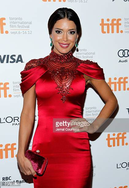 Miss Universe Canada Sahar Biniaz attends the Rhino Season premiere during the 2012 Toronto International Film Festival at The Elgin on September 12...