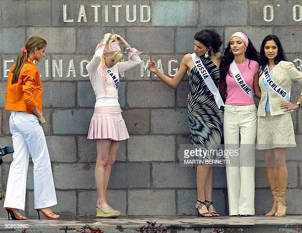 Miss Universe candidates Miss Panama Jessica Rodriguez Miss Canada Venessa Fisher Miss Russia Kseniya Kustova Miss Ukraine Oleksandra Nikolayenko and...