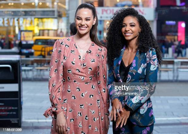 Miss Universe Catriona Gray and Cheslie Kryst Miss USA 2019 visit Extra at The Levi's Store Times Square on November 18 2019 in New York City