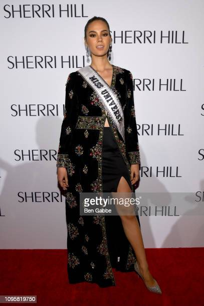 Miss Universe Catriona Gray attends the Sherri Hill Show during New York Fashion Week February 2019 on February 8 2019 in New York City