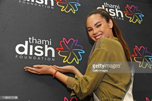 Miss Universe Catriona Gray during the Feathers National LGBTI campus dialogue at Wits University on August 07 2019 in Johannesburg South Africa The...