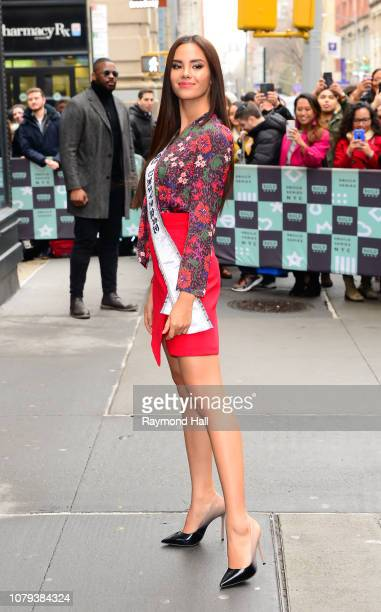 Miss Universe Catriona Gray seen outside Aol Live on January 8 2019 in New York City