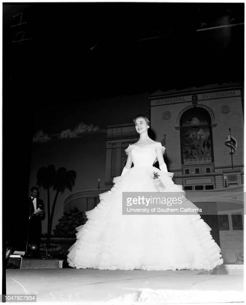 Miss Universe contest 23 July 1958 Charlotte Sheffield Eurlyne Howell Marcia Valibus Judith Carlson June Pinckney Diane Austin Caption slip reads...