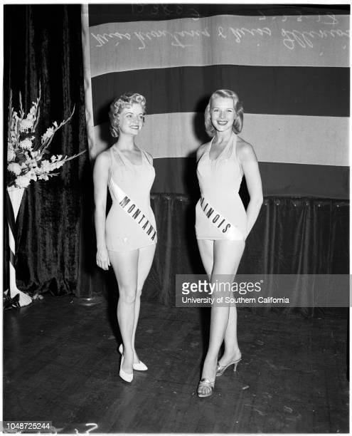 Miss Universe contest 23 July 1958 Judith Carlson Donna Kay Brooks Marcia Valibus Diane Austin June Pinckney Eurlyne Howell Sharon Tietjen Dee...