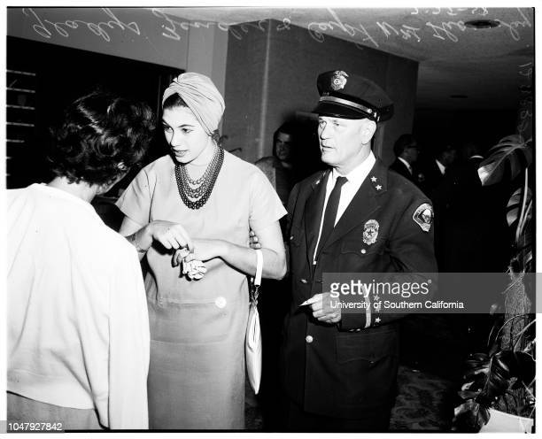 Miss Universe contest 25 July 1958 Gladys Zender Captain William ThornberryEurlyne Howell Adalgisa Colombo Marlies Jungbehrens Bob OliverMrs Lillian...