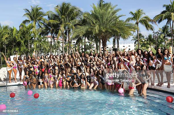Miss Universe Contestants participate in Miss Universe Yamamay Swimsuit Runway Show at Trump National Doral on January 14 2015 in Doral Florida