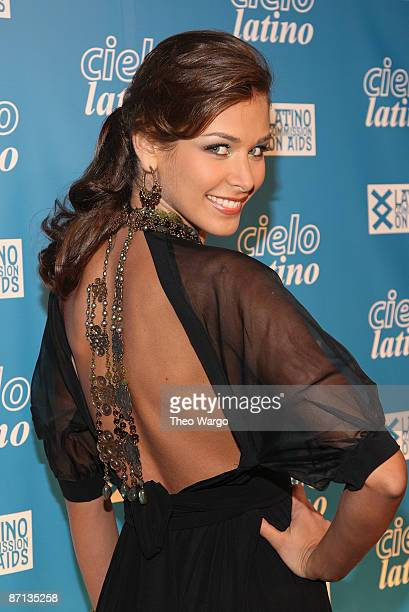 Miss Universe Dayana Mendoza attends the 14th annual Cielo Latino awards and auction at Cipriani Wall Street on May 12 2009 in New York City