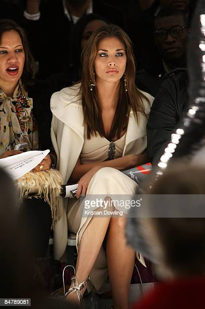 Miss Universe Dayana Mendoza attends the Kati Stern/Venexiana Fall 2009 fashion show during MercedesBenz Fashion Week at The Salon in Bryant Park on...