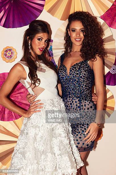 Miss Universe France Iris Mittenaere andMiss Universe Netherlands Zoey Ivory visit Okada Manila in the Philippines on January 21 2017 Miss France was...